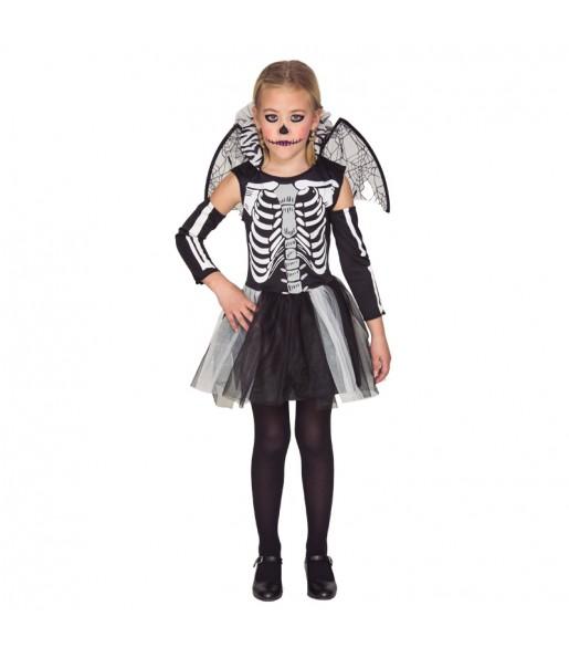 Disfraz de Esqueleto con Alas niña