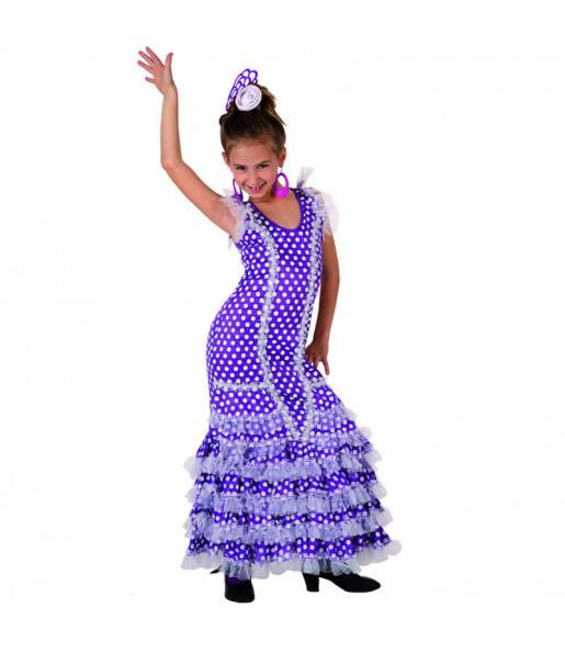 Disfraz de Niña Sevillana Púrpura