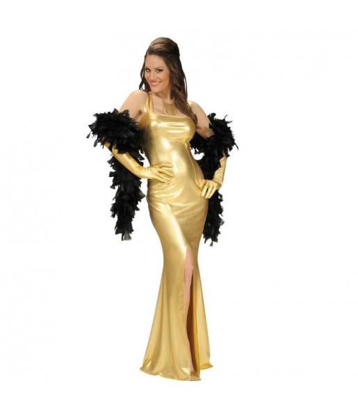 Disfraz de Fiesta Dorado