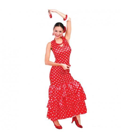 Disfraz de Flamenca Roja Lunares