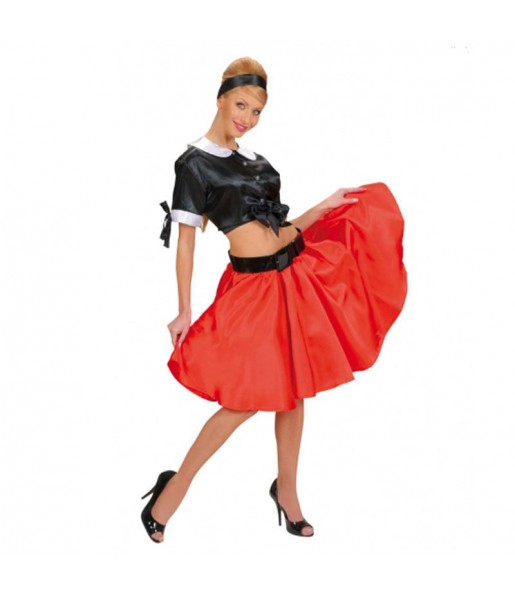 Disfraz de años 60 top falda