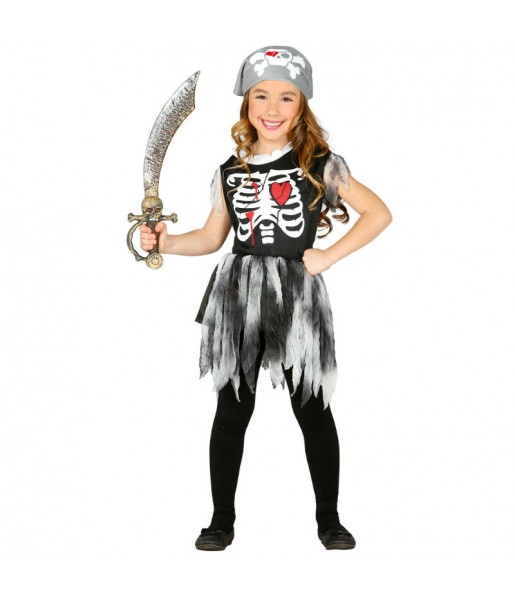 Disfraz de Pirata Esqueleto Niña