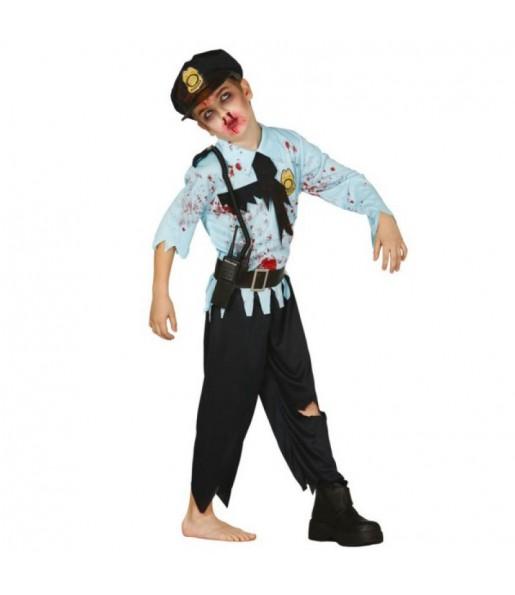 Disfraz policía zombie infantil