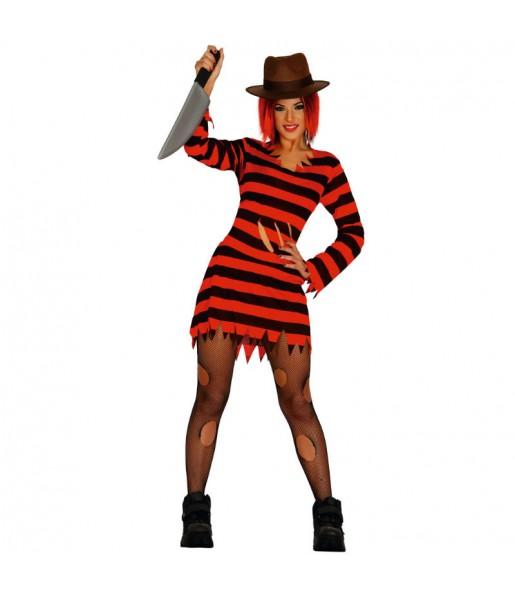 Disfraz de Freddy Krueger Mujer