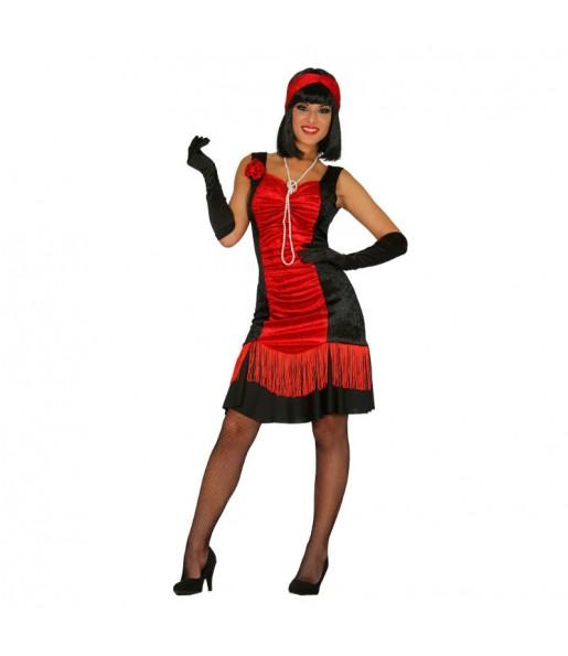 Disfraz de Charlestón Negro y Rojo
