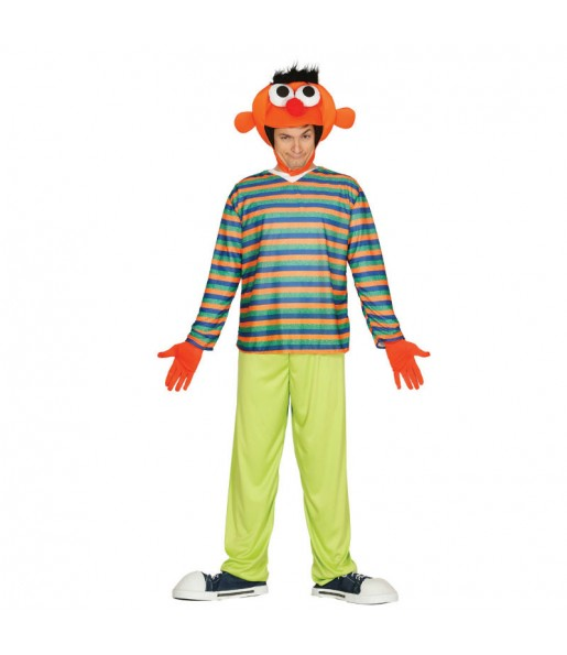 Disfraz de Epi Barrio Sésamo para adulto
