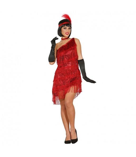 disfraz charlestón rojo adulto