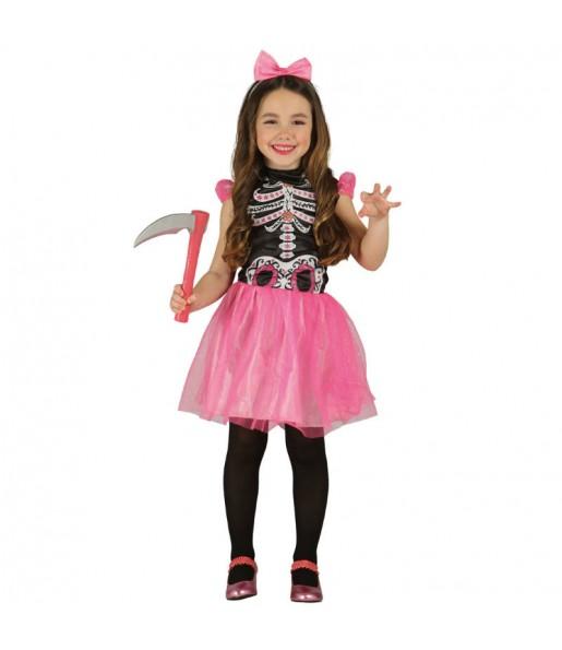 Disfraz de Esqueleto Tutú Rosa