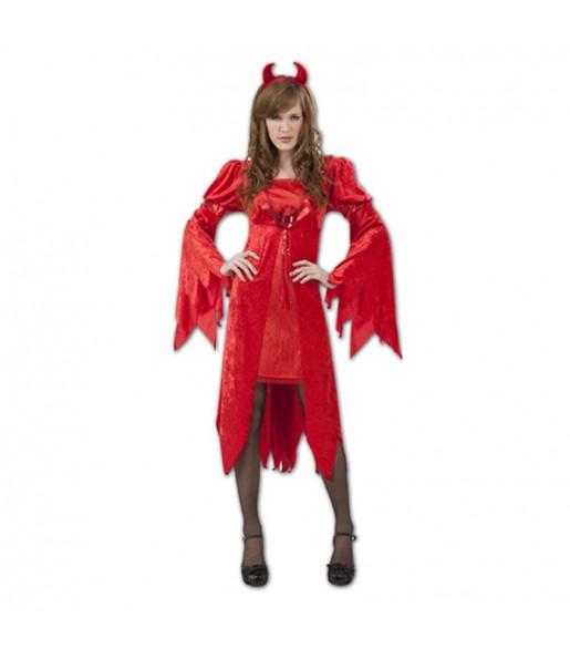 Disfraz de Diablesa Rojiza para mujer
