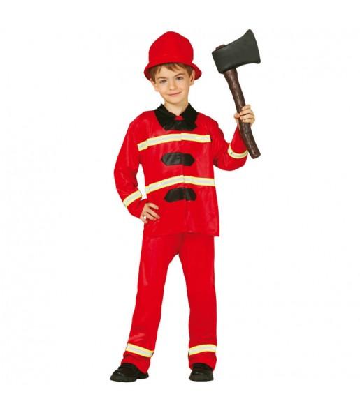 Disfraz de Bombero barato para niño