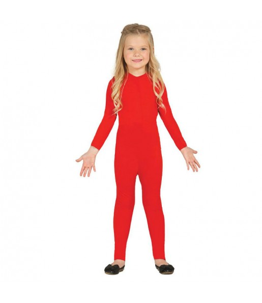 Disfraz de Maillot Rojo Spandex infantil