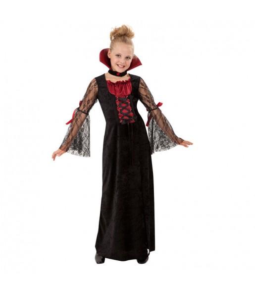 Disfraz de Vampiresa Gótica niña
