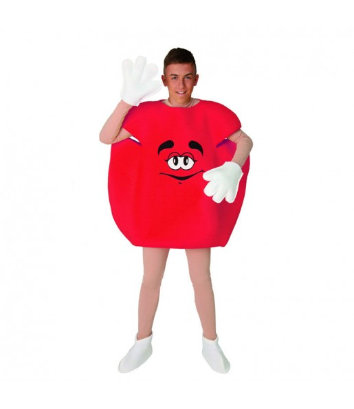 Disfraz de Caramelo Rojo para Adulto