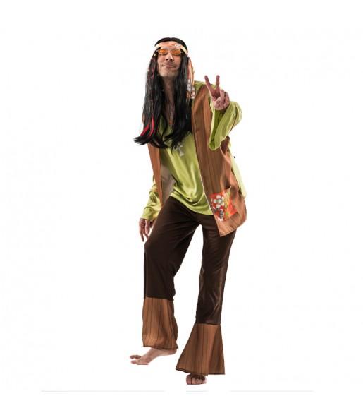 Disfraz de Hippie Marrón Hombre