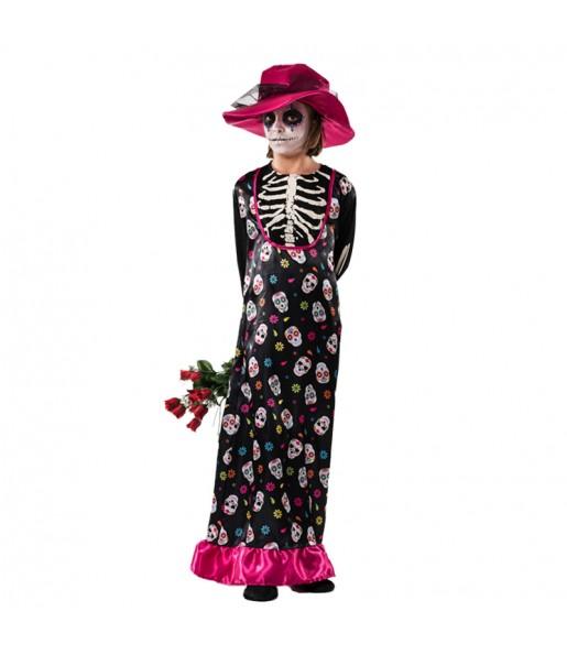 Disfraz de Catrina Muerte Infantil