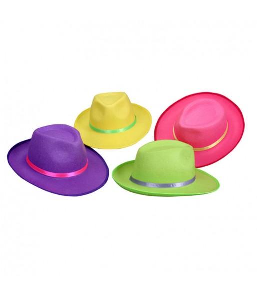 Sombrero de Gánster fluorescentes