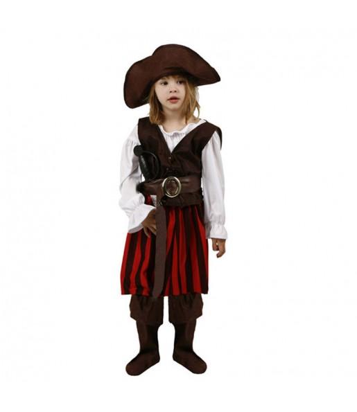 Disfraz de Pirata Rayas para niña