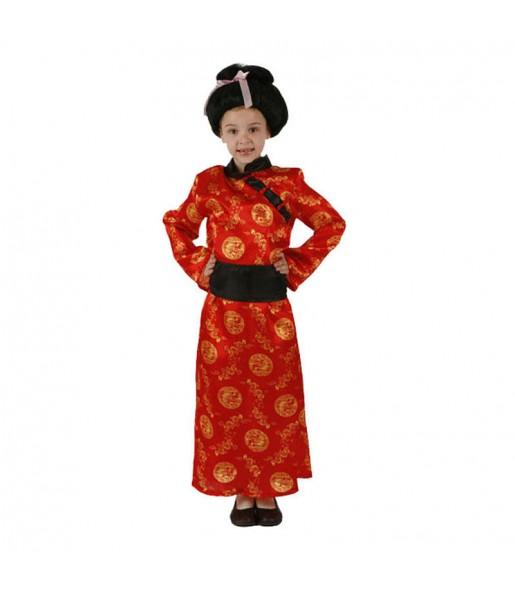Disfraz de China Rojo niña