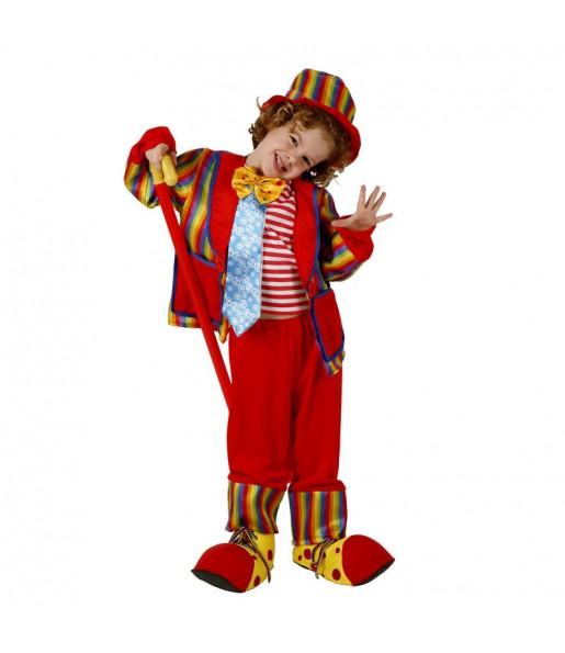 Disfraz de Payasa Roja infantil