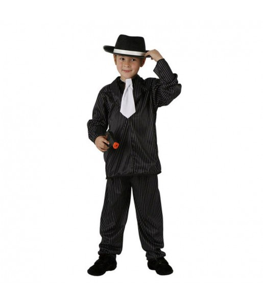 Disfraz de Gánster Rayas infantil