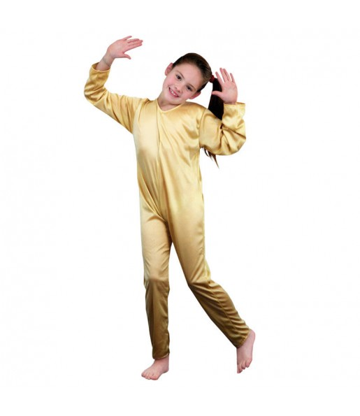 Disfraz maillot beige chica
