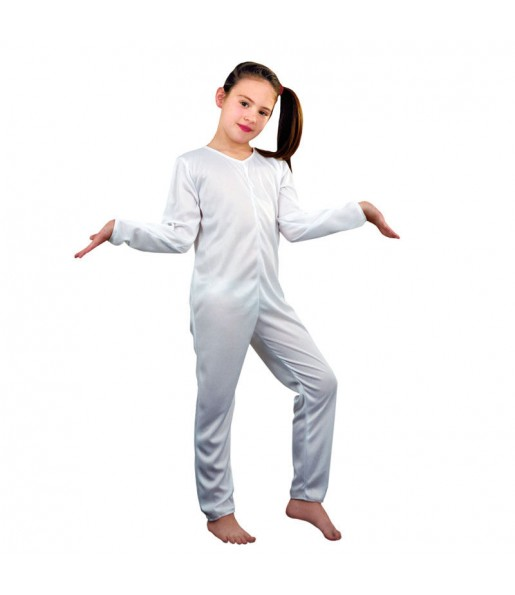 Disfraz de Maillot blanco chica