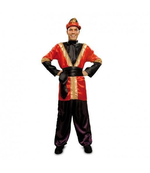 Disfraz de Paje rojo adulto