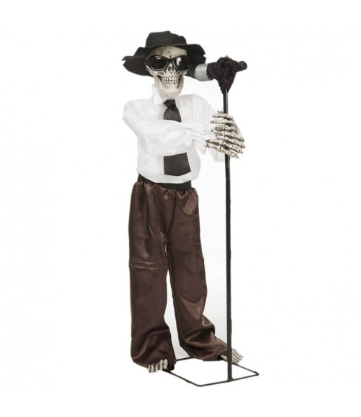 Blues Skeleton Decorativo con movimiento y sonido