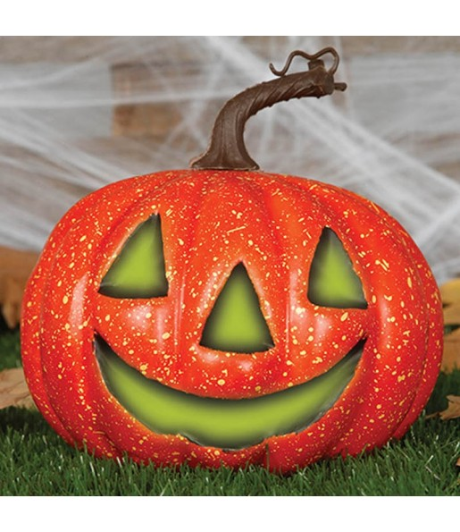 Calabaza Halloween 20 cm con luz