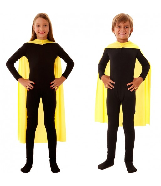 Capa superhéroe amarilla infantil