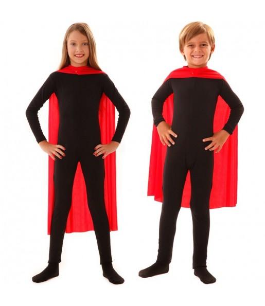 Capa superhéroe roja infantil