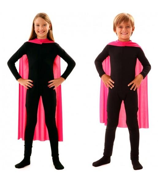 Capa superhéroe rosa infantil