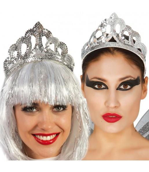 Corona Lentejuelas plata
