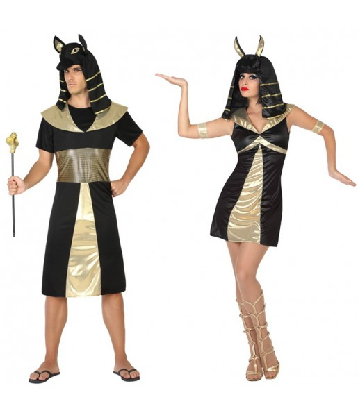 Pareja Reyes Egipcios Anubis
