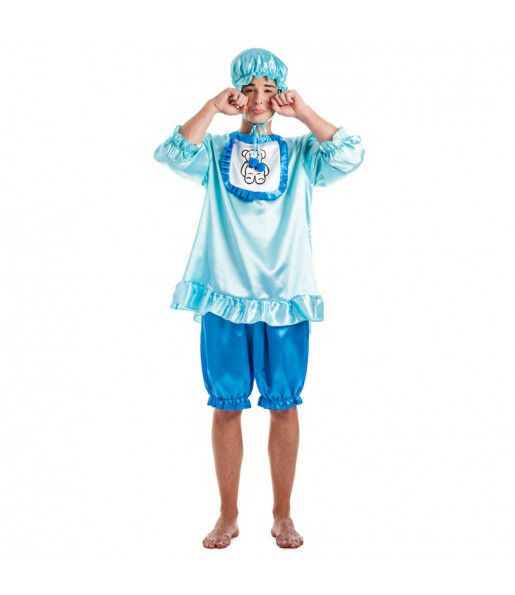 Disfraz de Bebé Llorón Azul para hombre