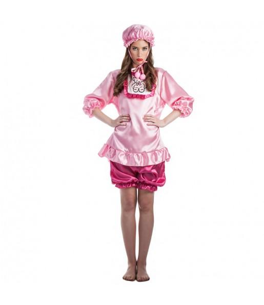 Disfraz de Bebé Llorona Rosa para mujer