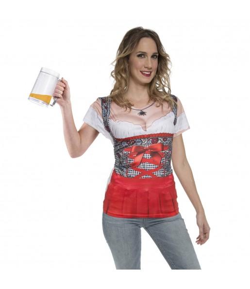 Disfraz Camiseta Alemana Oktoberfest mujer