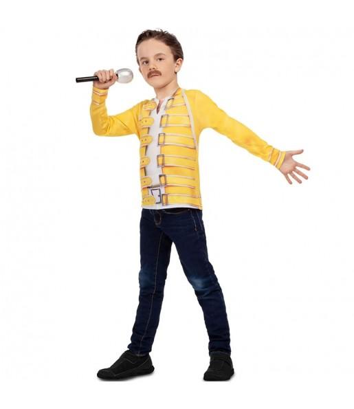Disfraz camiseta Freddy Mercury para niño