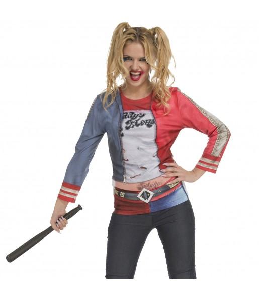 Disfraz Camiseta Harley Quinn mujer