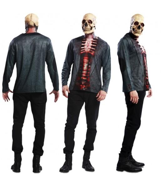 Disfraz Camiseta hiperrealista de Esqueleto