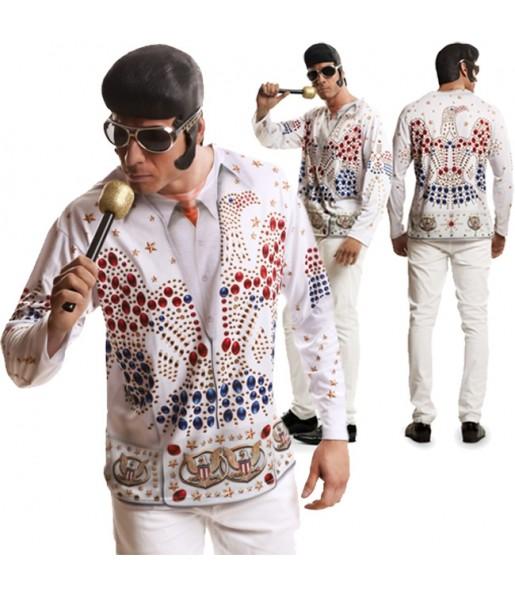 Disfraz Camiseta Rey del Rock Elvis Presley adulto