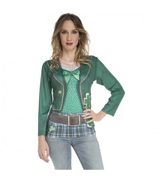 Disfraz Camiseta Saint Patrick's Day mujer