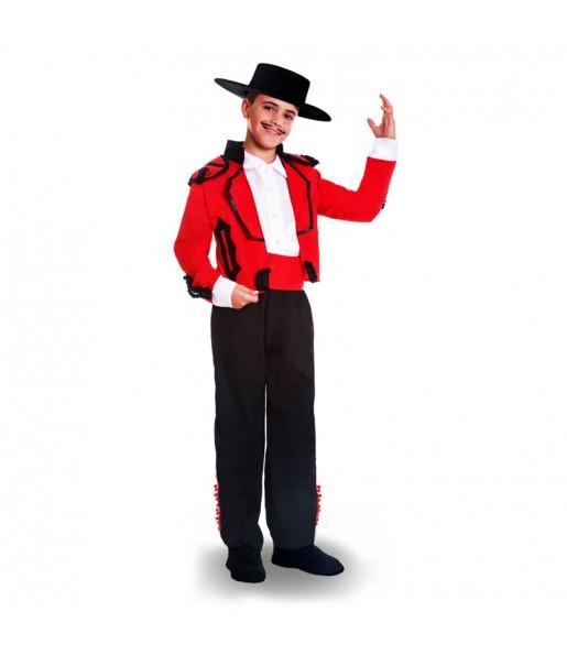 Disfraz de Cordobés Rojo para niño
