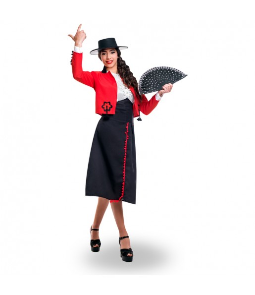 Disfraz de Cordobesa Roja para mujer