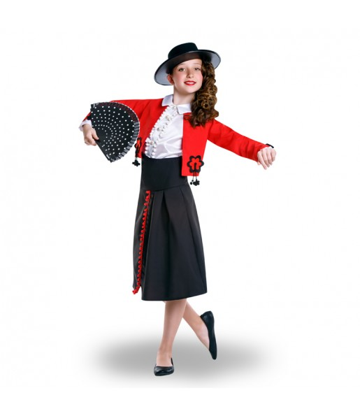Disfraz de Cordobesa Roja para niña