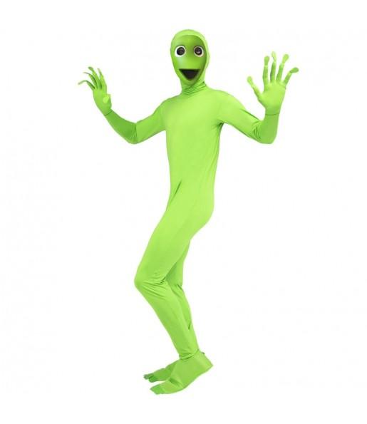Disfraz de Alíen Verde DAME TU COSITA para adulto