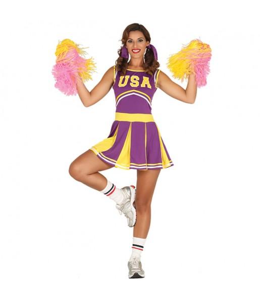 Disfraz de Animadora Estados Unidos para mujer