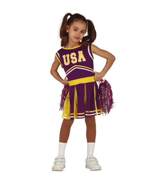 Disfraz de Animadora Estados Unidos para niña