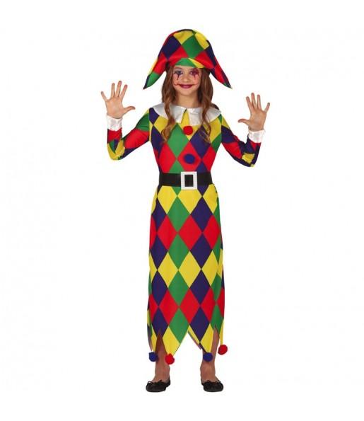 Disfraz de Arlequina Multicolor para niña