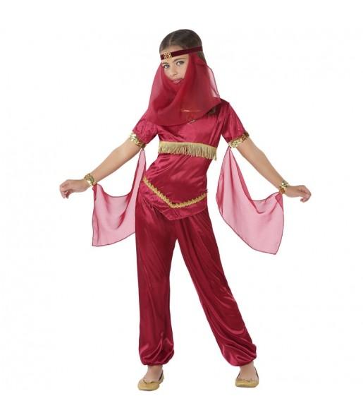Disfraz de Princesa Árabe Roja para niña